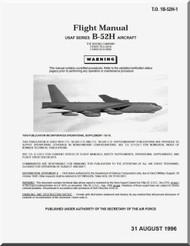 Boeing B-52 H Aircraft Flight  Manual -  T.O. 1B-52H-1 , 1996