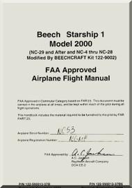 Beech Beechcraft 2000 Starship 1  Aircraft Flight Manual