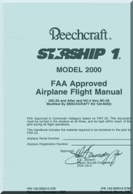 Beech Beechcraft 2000 Starship 1  Aircraft Flight Manual - 1995