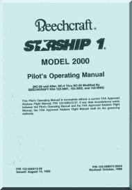 Beech Beechcraft 2000 Starship 1  Aircraft Pilot's Operating  Manual - 1995