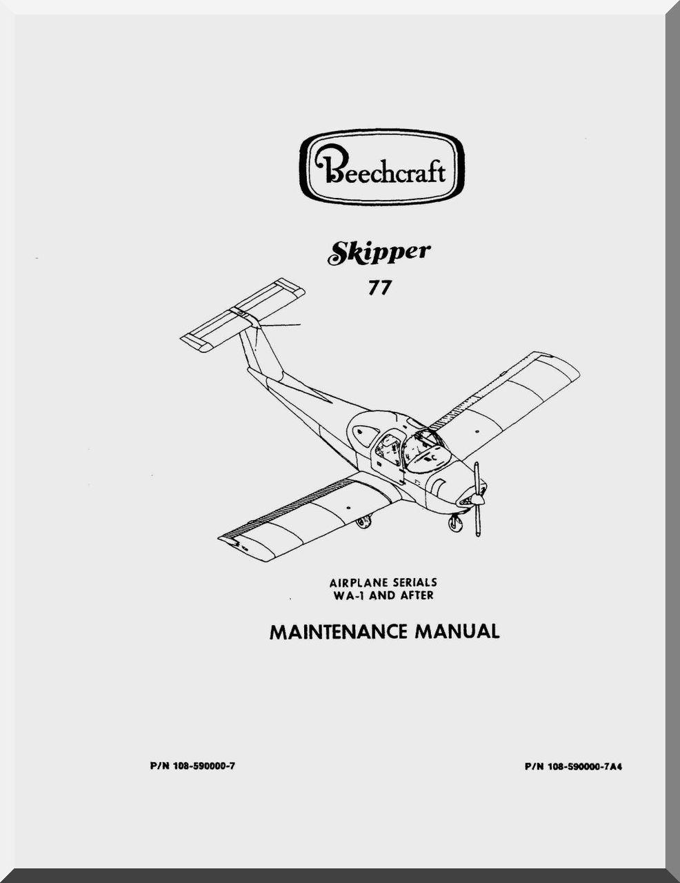 beechcraft skipper 77 aircraft maintenance manual aircraft rh aircraft reports com aircraft maintenance manual subsription aircraft maintenance manual supplement
