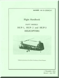 Piasecki HUP-1, 2, 3  Helicopter Flight Handbook  Manual - AN 01-25OHCA-1 , 1953