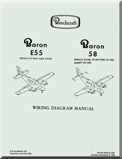 Beechcraft Baron E 55 58 Aircraft Wiring Diagram Manual - - Aircraft ...