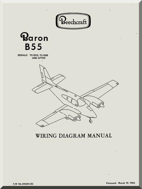 Beechcraft Baron B 55 Aircraft Wiring Diagram Manual