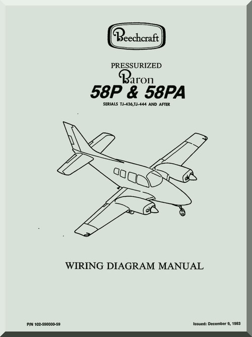 baron58P_58PA_wiring_diagram_manual0001__44775.1446578186.500.750 beechcraft c90 wiring diagram diagram wiring diagrams for diy Beechcraft F90 at readyjetset.co