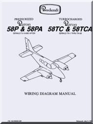Beechcraft Baron 58 TC TCA Aircraft Wiring Manual 1982