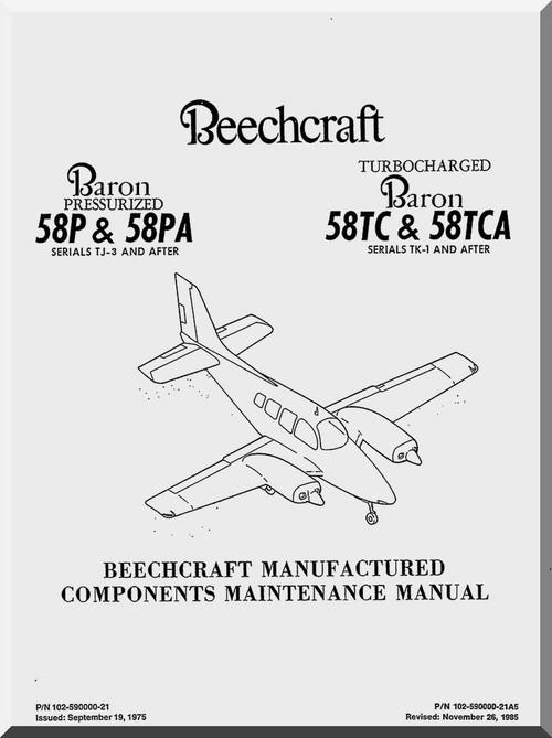 Beechcraft    Baron 58 P  PA and    TC      TCA Aircraft Component