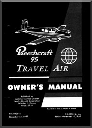 Beechcraft  95  Travel Air Aircraft  Owmer's Manual -