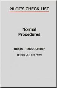 Beechcraft  Airliner 1900 D Aircraft Pilot's Check List  Manual