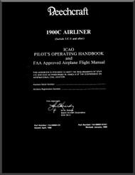 Beechcraft  Airliner 1900 C Aircraft Pilot's Operating Handbook  Manual