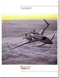 Beech Beechcraft 2000 Starship 1  Technical Brochure Manual -1987