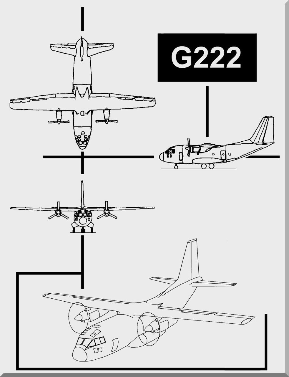 Aeritalia / FIAT G-222 Aircraft Flight Manual, ( English