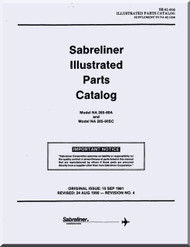 Sabreliner NA 265 -60  Aircraft Supplemantal Illustrated Parts Catalog  Manual -  Report No. SR-81-016 - 1981