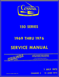 Cessna  150  Series Aircraft Service   Manual 1969 Thru 1976