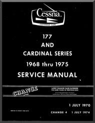 Cessna  177  Series Aircraft Service   Manual 1968 Thru 1975