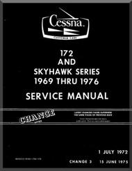 Cessna  172  Series Aircraft Service   Manual 1969