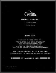 Cessna  172  Series Aircraft Parts Catalog Manual 1962 thu 1973