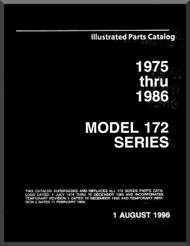 Cessna  172  Series Aircraft Parts Catalog Manual 1975 thru 1986