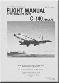 Lockheed C-140 Aircraft Flight Performance Data Manual T.O. 1C-140A-1-1