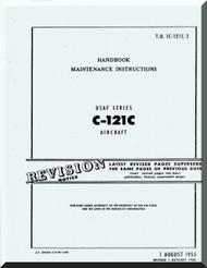 Lockheed C-121  C  Aircraft Maintenance Manual, An 01-121C-2,  1955