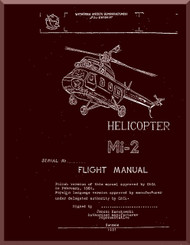 "Mil Mi-2 "" Hoplite ""  Helicopter Flight  Manual  ( English Language )"