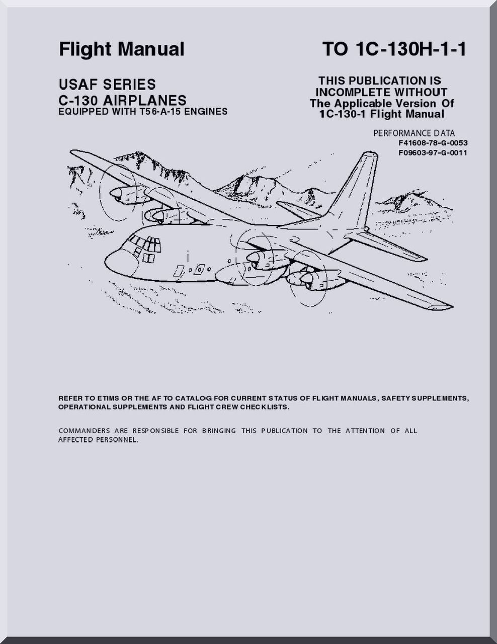Lockheed C-130 H Aircraft Flight Manual, T.O. 1C-130H-1-1