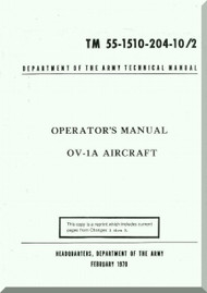 Grumman OV-1 A  Operator's  Manual ,  TM 55-1510-204-10/2 , 1970