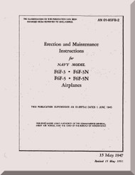Grumman F6F-3, -3N, -5, -5N  Erection and Maintenance Instruction  Manual AN  01-85FB-2, 1944