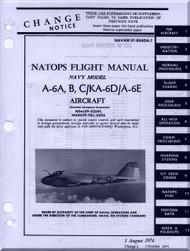 Grumman A-6 A, B, C / KA-6D A-6E  NATOPS Flight Manual NAWEPS 01-85ADA-1, 1974