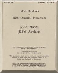 Grumman J2F-6  Pilot's Handbook of Flight Operating Instructions  Manual , NAVAER 01-220QA-1, 1945