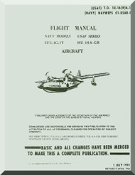 Grumman HU-16 - GR UFG-1-1G , 1T Aircraft Flight Manual 01-85AB-1 - 1955