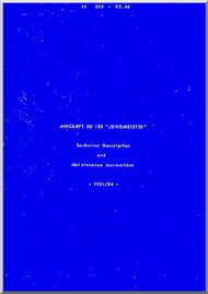 CASA 1.133 Jungmeister / Bücker Bü 133  Aircraft Maintenance Manual - ( English Language )