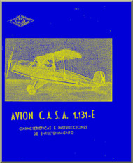 CASA 1.131 Jungmann / Bücker Bü 131 Aircraft Instruction Manual - ( Spanish Language )