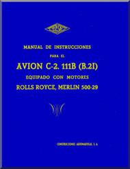 CASA C-2. 111B Aircraft Instruction Manual - ( Spanish Language ) Ver. 2