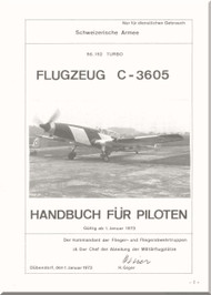 EWK C-3605  Aircraft  Pilot Flight  Manual -  ( German  Language ) - Flugzeug C-3605 Bedienungvorscrift fur piloten