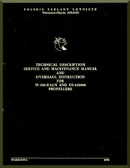 PZL 104 Wilga  Aircraft  Technical Description Service and Overhaul Instruction  Manual -  ( English Language ) , 1970
