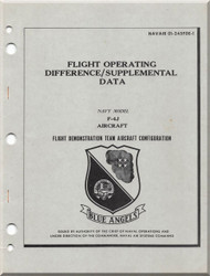 Mc Donnell Douglas  Aircraft F4-J Phantom II  Flight Operating  Manual - 01-245FDE-1