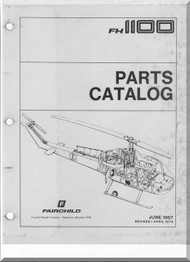 Fairchild Hiller FH-1100 Helicopter Illustrated Parts Catalog  Manual  -1974