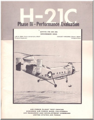 Piasecki  H-21C  Helicopter Perfomance Evaluation Manual Report