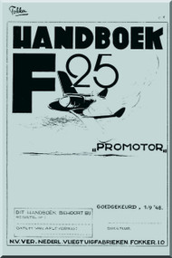 Fokker F-25  Aircraft  Handbook Manual -  ( Dutch Language )