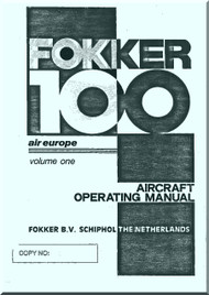 Fokker F-100  Aircraft Operating  Manual  Vol 1 - Air Europe