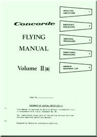 Aerospatiale / BAe / BAC  Concorde  Aircraft Flight Manual V. II A