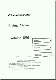 Aerospatiale / BAe / BAC  Concorde  Aircraft Flight Manual V. II B