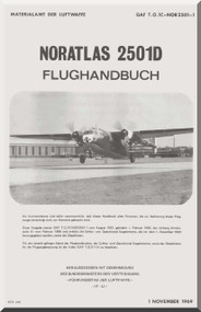 Nord  2502D Aircarft Flughandbuch Handbook Manual  Materialamt de Luftwaffe GAF T.O. 1C-NOR2501-1  (German language ) - 1969