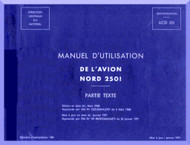 Nord  2501 Airacrft Manuel d'utilisation   Manual   (French language ) - Partie Text -1971