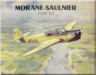 Morane Saulnier MS-571  Aircraft Technial Brochure  Manual -