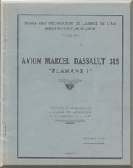 "Dassault 315 "" Flamant I ""   Aircraft  Mechanical Training  Manual , ( French Language )"