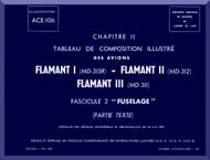 "Dassault  "" Flamant I II III ""   Aircraft  Mechanical Parts Catalog  Manual -  Fuselage - Text , ( French Language )"