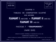 "Dassault  "" Flamant I II III ""   Aircraft  Mechanical Parts Catalog  Manual -  Equipments - TEXT , ( French Language )"
