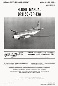 Breguet BR 1150  / SP-13A   Aircraft Flight Handbook Manual (English  Language ) MLD T.O. 1U-BR1150-1 Volume 2